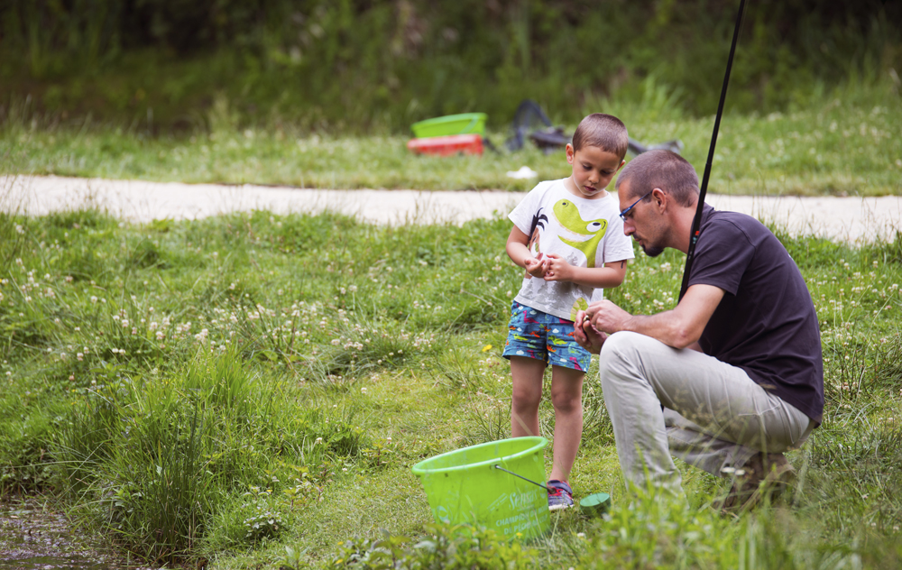 initiation à la pêche en étang