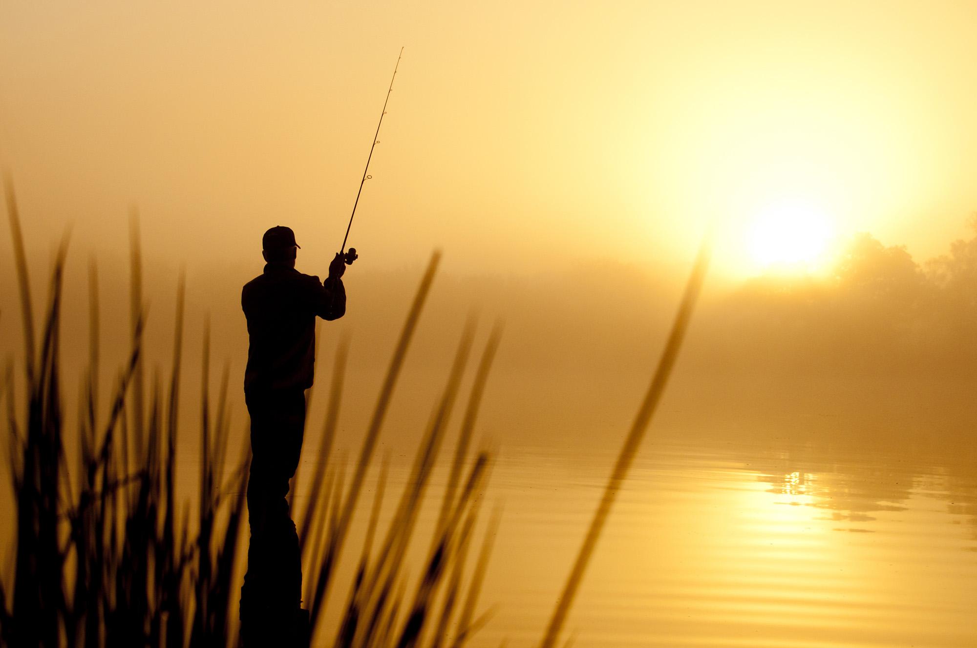 pêche aux leurres du soir