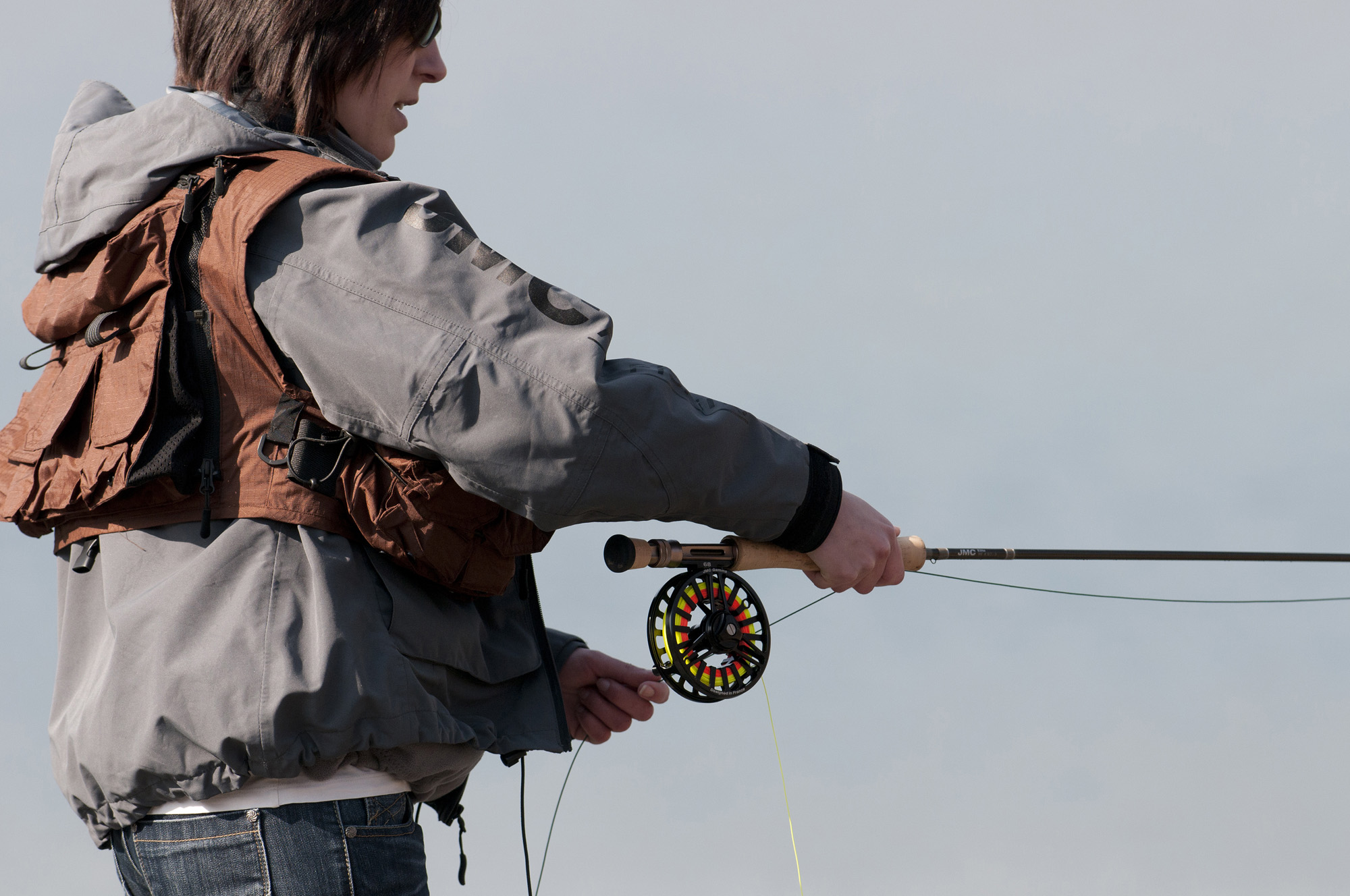 pêche à la mouche en soirée