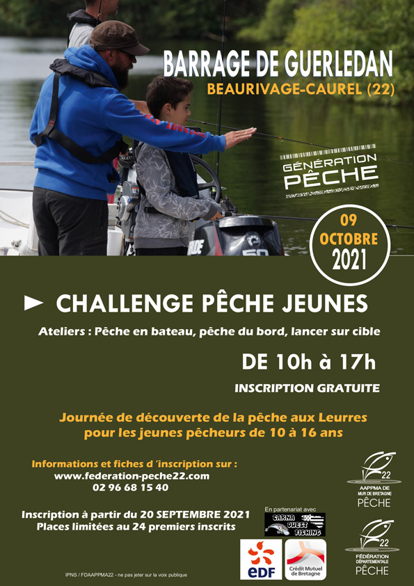 Affiche challenge jeunes Guerlédan